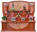 収納五人飾り 若菜 ピンクの画像